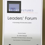 Leaders' Forum welcomes keynote speaker Dr. Wim Wiewel, President of Portland State University.